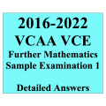 2016-2022 VCAA VCE Further Maths Sample Exam 1 - Detailed Answers