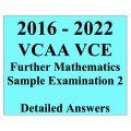 2016-2022 VCAA VCE Further Maths Sample Exam 2 - Detailed Answers