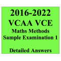 2016-2022 VCAA VCE Maths Methods Sample Exam 1 - Detailed Answers
