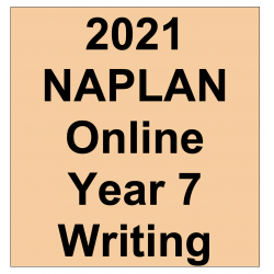 2021 Kilbaha Interactive NAPLAN Trial Test Writing Year 7