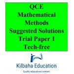 2021 Kilbaha QCE Mathematical Methods Trial Exam Paper 1