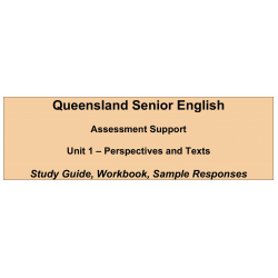 Senior English Unit 1 - Perspectives and Texts