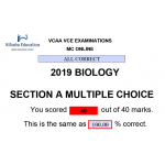 VCAA MC Online 2019 Biology