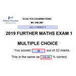 VCAA MC Online 2019 Further Mathematics