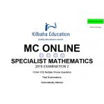 VCAA MC Online 2019 Specialist Mathematics