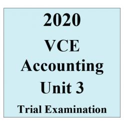 2020 Kilbaha VCE Accounting Unit 3 Trial Examination