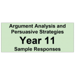 Argument Analysis and Persuasive Strategies Year 11