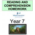 Reading and Comprehension Year 7