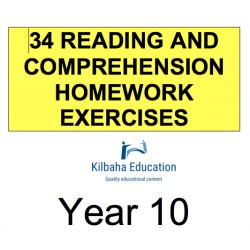 Reading - All Year 10 Homework Exercises