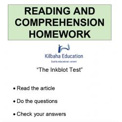 Reading - The Inkblot Test