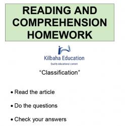 Reading - Classification