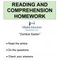 Reading - Zombie spider