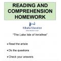 Reading - The Lake Isle of Innisfree