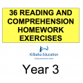 Reading - All Year 3 Homework Exercises