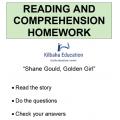 Reading - Shane Gould Golden Girl