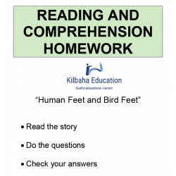 Reading - Human Feet and Bird Feet