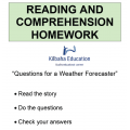Reading - Questions for a Weather Forecaster