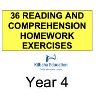 Reading - All Year 4 Homework Exercises