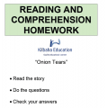 Reading - Onion Tears