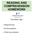 Reading - The White Tiger