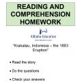 Reading - Krakatau, the 1883 Eruption