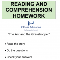 Reading - The ant and the grasshopper