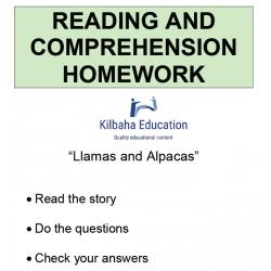 Reading - Llamas and Alpacas