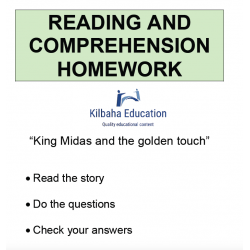 Reading - King Midas - the golden touch