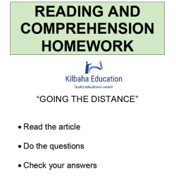Reading - Going the distance