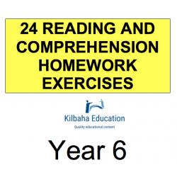 Reading - All Year 6 Homework Exercises