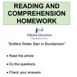 Reading - Bottled water ban in Bundanoon