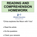 Reading - China explores the Moon