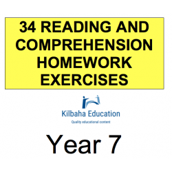 Reading - All Year 7 Homework Exercises