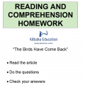 Reading - The birds have come back