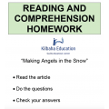 Reading - Making angels in the snow