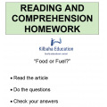 Reading - Food or Fuel