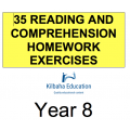 Reading - All Year 8 Homework Exercises