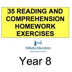 Reading - All Year 8 Homework Exercises