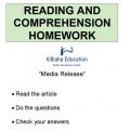 Reading - Media Release