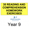 Reading - All Year 9 Homework Exercises