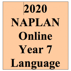 2020 Kilbaha Interactive NAPLAN Trial Test Language Year 7