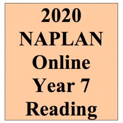 2020 Kilbaha Interactive NAPLAN Trial Test Reading Year 7