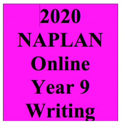 2020 Kilbaha Interactive NAPLAN Trial Test Writing Year 9