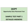 OCPT Sample Part1 Answers