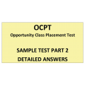 OCPT Sample Part2 Answers
