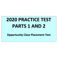 Opportunity Class Placement Test