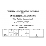 2019 Kilbaha VCE Further Maths Trial Examination 1
