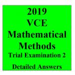 2019 Kilbaha VCE Maths Methods Trial Examination 2