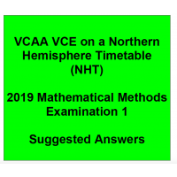 Detailed answers 2019 VCAA VCE NHT Mathematical Methods Examination 1