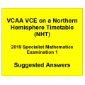 Detailed answers 2019 VCAA VCE NHT Specialist Mathematics Examination 1